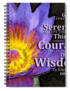 Serenity Prayer With Lotus Flower By Sharon Cummings Spiral Notebook