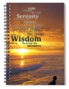 Serenity Prayer With Sunset By Sharon Cummings Spiral Notebook