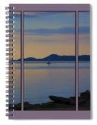Serenity Tryptych Spiral Notebook
