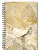 Series Abstract Art In Earth Tones 1 Spiral Notebook
