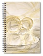 Series Abstract Art In Earth Tones 2 Spiral Notebook