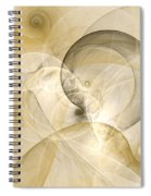 Series Abstract Art In Earth Tones 3 Spiral Notebook