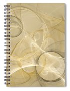 Series Abstract Art In Earth Tones 4 Spiral Notebook