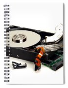 Seriously Crashed Hard Drive Spiral Notebook