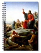 Sermon On The Mount Watercolor Spiral Notebook