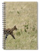 Serval Hunting Spiral Notebook