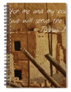 Serve The Lord Spiral Notebook