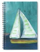 Set Free- Sailboat Painting Spiral Notebook