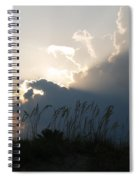 Setting Rays At Sand Dunes Spiral Notebook