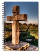 Setting Sun On A Cross By The Trenches Spiral Notebook
