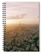 Setting Sun Over Paris Spiral Notebook