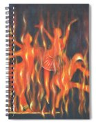 Setting The Stage On Fire Spiral Notebook