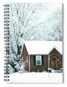 Settled In For The Winter Spiral Notebook