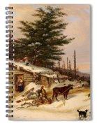 Settler's Log House Spiral Notebook