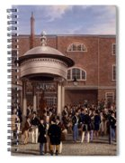 Settling Day At Tattersalls, Print Made Spiral Notebook