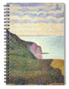 Seurat's Seascape At Port Bessin In Normandy Spiral Notebook