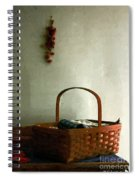Sewing Basket In Sunlight Spiral Notebook