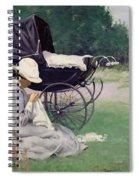 Sewing In The Sun, 1913 Spiral Notebook