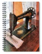 Sewing Machine Near Lace Curtain Spiral Notebook