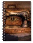 Sewing Machine  - Singer  Spiral Notebook