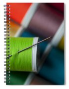 Sewing Needle With Bright Colored Spools Spiral Notebook