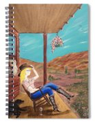 Sexy Cowgirl Sitting On A Chair At High Noon Spiral Notebook