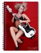 Sexy Guitar Spiral Notebook