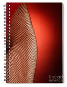 Sexy Woman Hips In Fishnet  Spiral Notebook