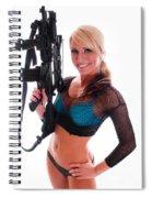 Sexy Woman Holding An Ar15 Spiral Notebook
