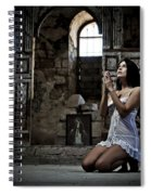 Sexy Woman In Church 2 Spiral Notebook