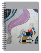 Sexy Woman Sitting In A Chair At A Nightclub Spiral Notebook