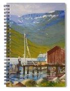 Seydisfjordur Wharf Spiral Notebook