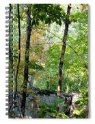 Shade Upon A Rock Spiral Notebook