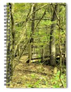Shades Mountain Bridge In The Forest Spiral Notebook