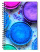 Shades Of Blue Watercolor Spiral Notebook