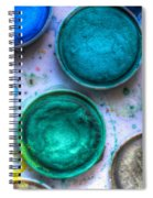 Shades Of Green Watercolor Spiral Notebook