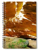 Shades Of Light Shadow And Texture On Cliff Wall Spiral Notebook