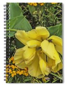 Shades Of Yellow Spiral Notebook