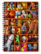 Shadow Box Full Of Toys Spiral Notebook