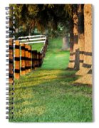 Shadow Fencing Spiral Notebook