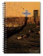 Shadow Of Cross Peru Spiral Notebook