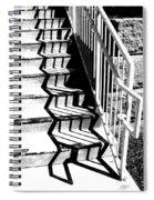 Shadow Of Handrail Spiral Notebook