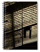 Shadow Patterns Spiral Notebook