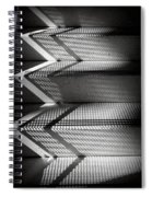 Shadow Play - Black And White Spiral Notebook