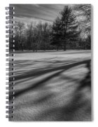 Shadows In The Park Spiral Notebook