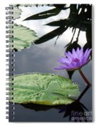Shadows On A Lily Pond Spiral Notebook