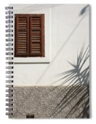Shadows On Old House. Spiral Notebook