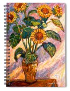 Shadows On Sunflowers Spiral Notebook