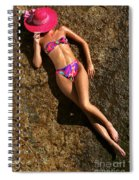 Shannon Pink Hat Spiral Notebook