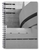 Shapes Of The Guggenheim In Black And White Spiral Notebook
